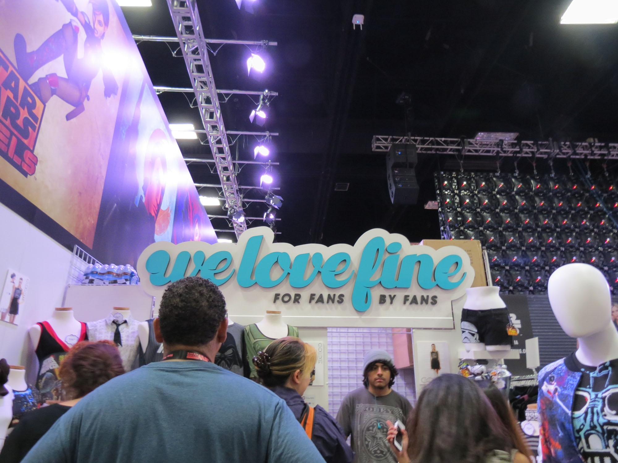 The WeLoveFine booth