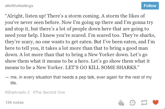 Ah, yes, what it means to be a New Yorker. Killing sharks.