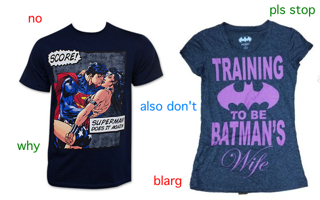But Why, Though? DC's New Licensed T-Shirts Suggest Some Terrible Things About Women